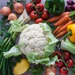 Cauliflower and fresh vegetables