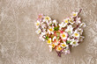 Decorative heart from spring flowers