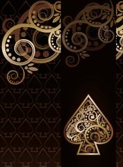 Spade poker playing card, vector illustration