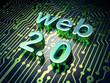 Web design SEO concept: circuit board with word Web 2.0
