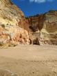 Praia de Rocha beach on the Algarve region.