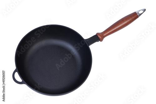 Empty new pan top view.