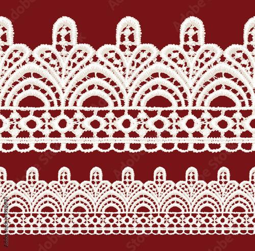 Seamless penwork lace border.