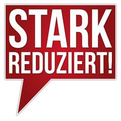 Button Banner STARK REDUZIERT