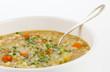 Löffel in Suppenschüssel