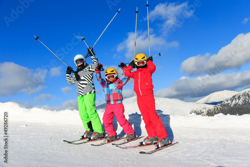 Children on the ski