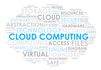 CLOUD COMPUTING tag cloud (technology virtual web online)