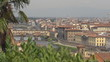 Panoramic view of Florence city with old bridge, Italy