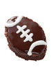 football shaped brownie