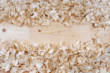 wooden shavings chips texture