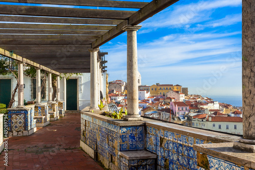 Lisbon, Santa Luzia viewing point over the Alfama district