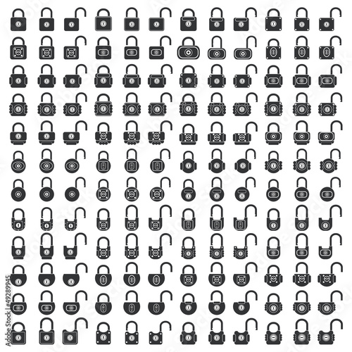 Lock icons vector set