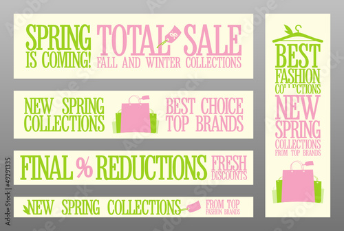 Spring fashion banners for sale and new collections