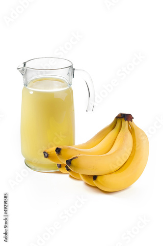 Banana nectar from a bunch of bananas
