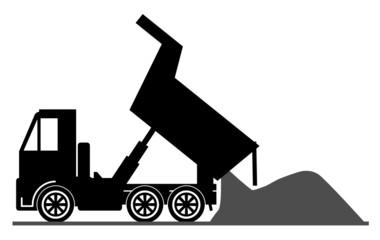 Dump truck, vector illustration