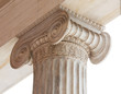 Leinwanddruck Bild - Capital of Greek neoclassical ionic column