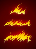 burning flame of fire vector silhouette vector illustration