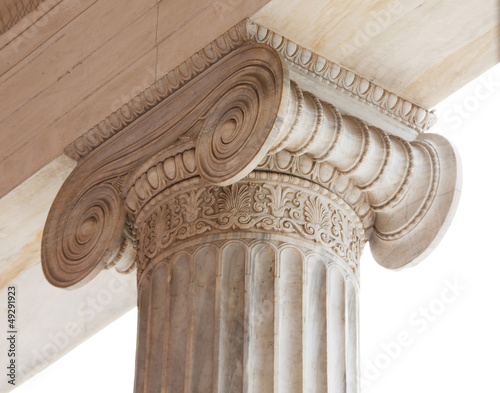 Leinwanddruck Bild Capital of Greek neoclassical ionic column