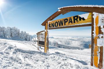 Panneau d'information Snowpark