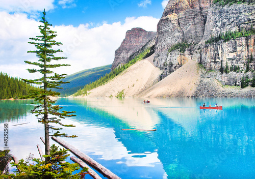Beautiful mountain lake and Rocky Mountains, Canada