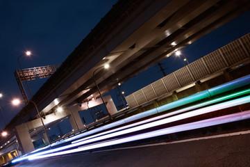 light trails of cars