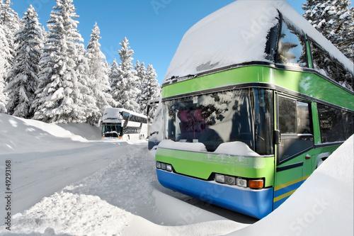 Autobus sport d'hiver - 49293168