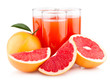 ripe grapefruits with grapefruit juice
