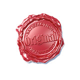 seal wax certificate 3d illustration