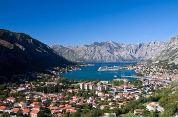Kotor cityscape in Montenegro, Europe