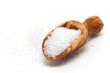 salt in wooden scoop