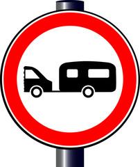 Caravan Traffic Sign