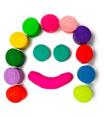 smiley plasticine face