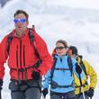 auf Skitour unterwegs im Gletscherbereich