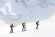 Drei Skibergsteiger