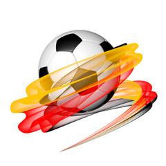 Fußball mit deutschen Nationalfarben - 3D Grafik /  Illustration