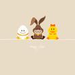 Egg, Bunny & Duck Beige