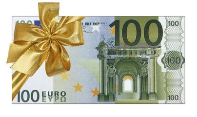 billet cadeau de 100 euros