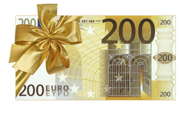 billet cadeau de 200 euros