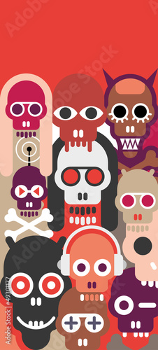 Skulls vector illustration
