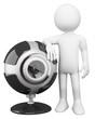 3D white people. Webcam