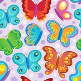 Butterfly seamless background 3