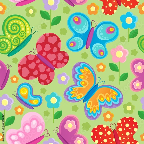 Butterfly seamless background 4