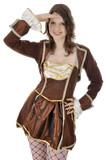 Junge Frau in Karnevalskostüm