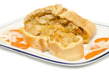 Panada sarda ripiena di cavolo,manzo e carote, cucina sarda