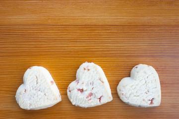 Love hearts strawberry shortcake cookies