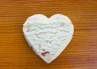 Love heart strawberry shortcake