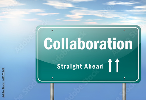 "Highway Signpost ""Collaboration"""