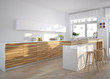 design küche mit theke und dekoration