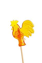 Sugar cockerel on a stick