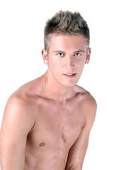 Shirtless boy